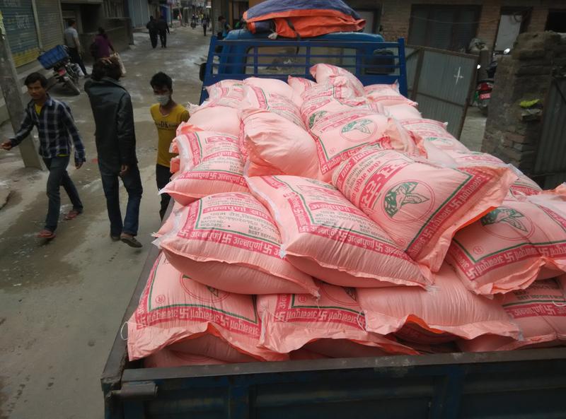 100 sacks rice sent